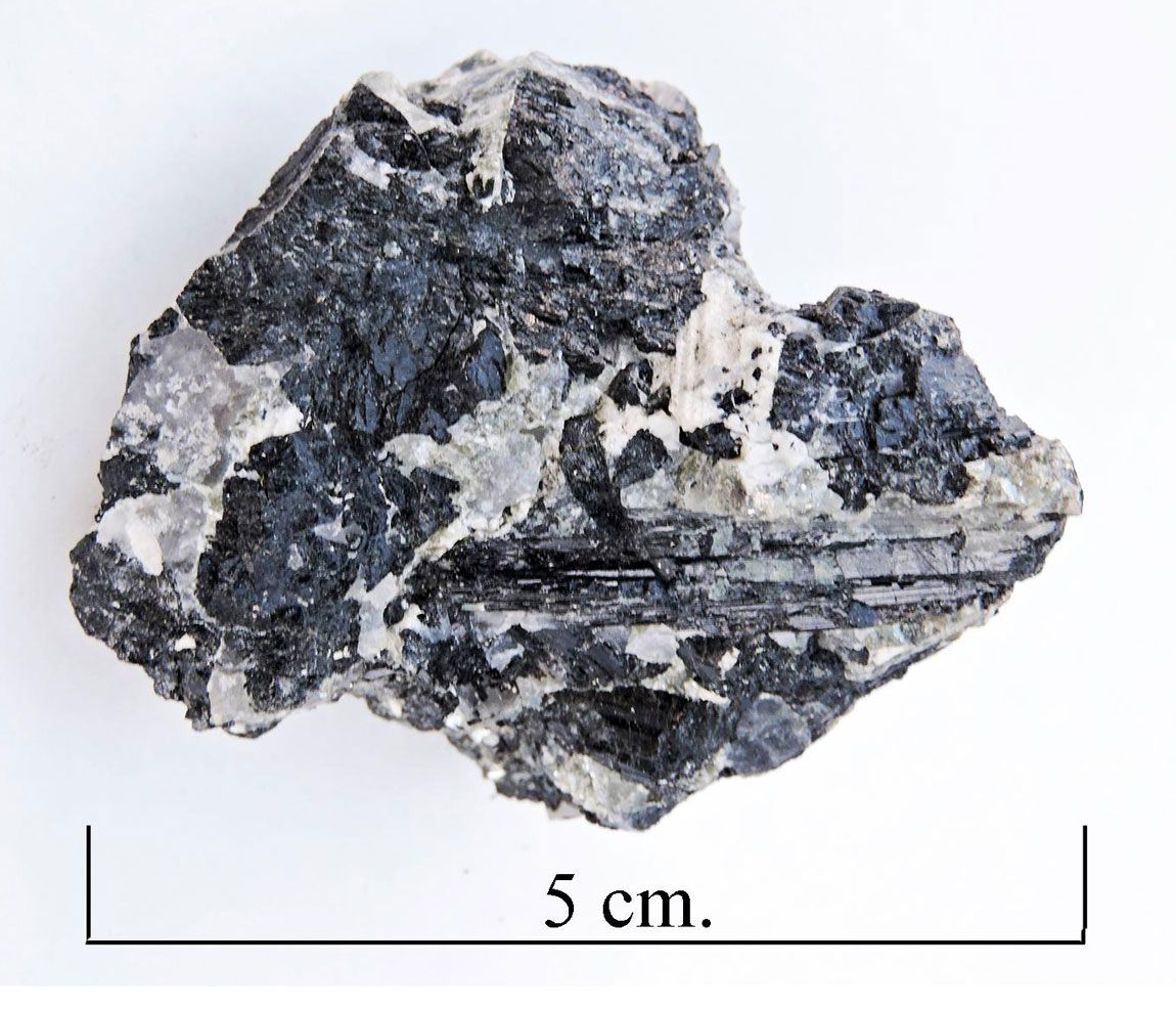 Schorl tourmaline,  Norway.
