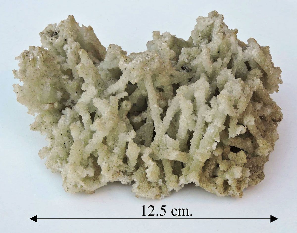 Prehnite, after laumonite.